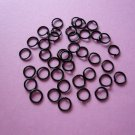Black Jump Rings 6mm
