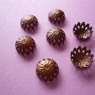 Copper Color Flower Filigree Bead Cap 12mm