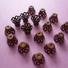 Copper Color Flower Filigree Bead Cap 9mm