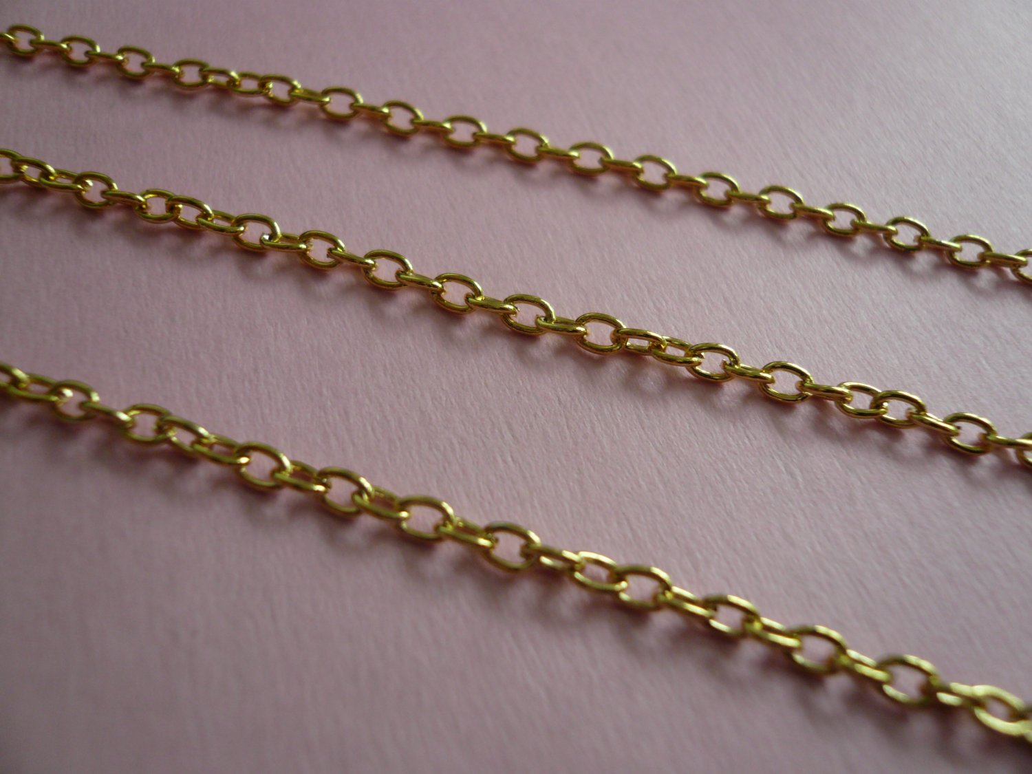Gold Color Metal Oval Link Chain *3 Feet*