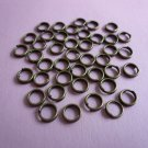 Bronze Color Metal Double Spilt Jump Rings  5mm