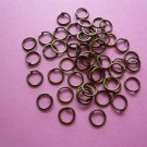 Bronze Color Metal Jump Rings  6mm