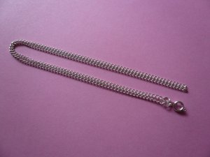 Silverplated Curb Chain Necklace **18 Inches**