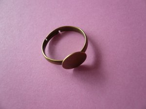 Bronze Color Ring Base 10mm Pad