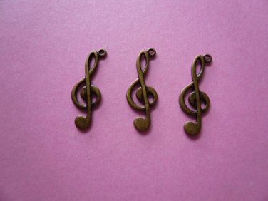 Treble Clef Musical Note Charms 10PCS