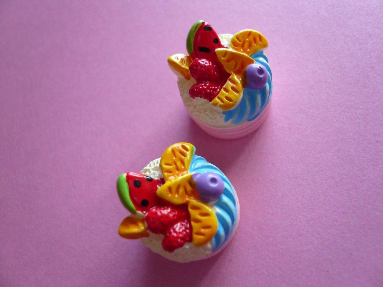 Fruit Cake Cabochons