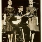 UNKNOWN 1960s Singing Trio BANJO Publicity TV PHOTO