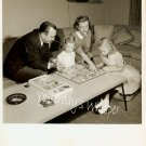 1950s PHOTO  Walter Cronkite Wife Daughters play Game