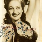 Dorothy Lamour Hand Autographed Postcard Hollywood CA