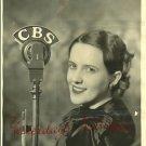 VINTAGE Louise BEACH Soprano CBS KFRC SINGER B&W PHOTO