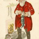 c.1916 CHRISTMAS Santa TOYS Stocking postcard P151