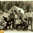 Unidentified Silent Film CREW Tent ORIGNAL Candid PHOTO