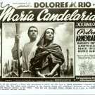 Dolores del Rio MARIA CANDELARIA Ad ART TV R PHOTO F88