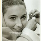 VINTAGE Anjelica Huston YOUNG CLOSEUP B/W Photo