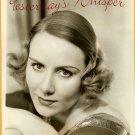 ORIGINAL Helene DUMAS Singer Glamour Publicity PHOTO