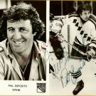 Phil Esposito Hand Autographed 1979-80 Publicity Photo