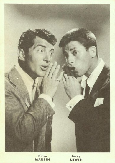 Vintage Jerry Lewis Dean Martin Card Fan Photo