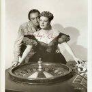 Maureen O'Hara Roulette Wheel Vintage B&W Photograph