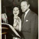Alfred DRAKE Mimi BENZELL NBC Radio PRESS Photo C796