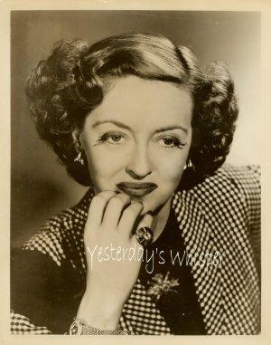 1960s Vintage Promo Publicity Photograph Bette Davis