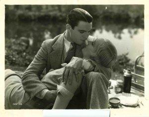 Carole Lombard Chester Morris Kissing Original Movie Photo