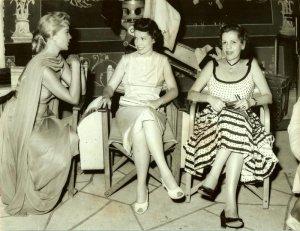 Peggie Castle Mrs. Betty Lanza Original Candid Set Photo