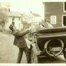 Silent Era Comedy c.1917 Antique Car Original Photo
