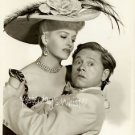 Sexy Lips Marilyn Maxwell Big Hat Mickey Rooney Photo