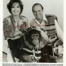 Bob Newhart Linda Gray Bubbles the Chimp Original Photo