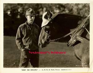 Walter Huston Horse Keep em Rolling c.1934 Movie Photo