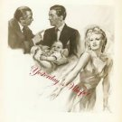 Ginger Rogers David Niven Bachelor Mother Ad Art Photo