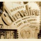 Maurice Chevalier Rare RIVOLI Theater LOVE ME TONIGHT Movie Display Photo