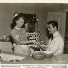 Louis JOURDAN Lili PALMER Retro KITCHEN Scene ORIGINAL 1948 MGM Movie Photo