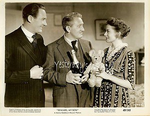 Deborah KERR Teddy BEAR Spencer TRACY Edward My Son ORIGINAL 1949 Movie Photo