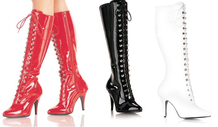 Vanity - Women's Knee High Lace up Boots
