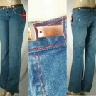 Junior Jeans with Plastic Belt and Red Contrast Stitching