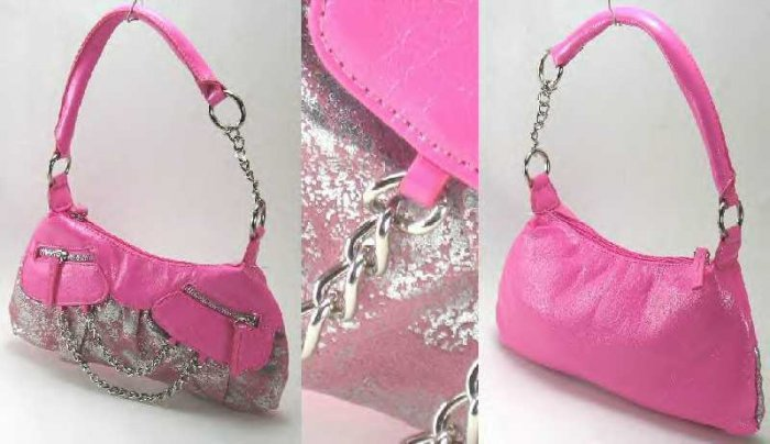 Front Zipper and Chains Handbags