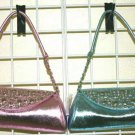 Handbags with Front Studs and Rhinestones Design