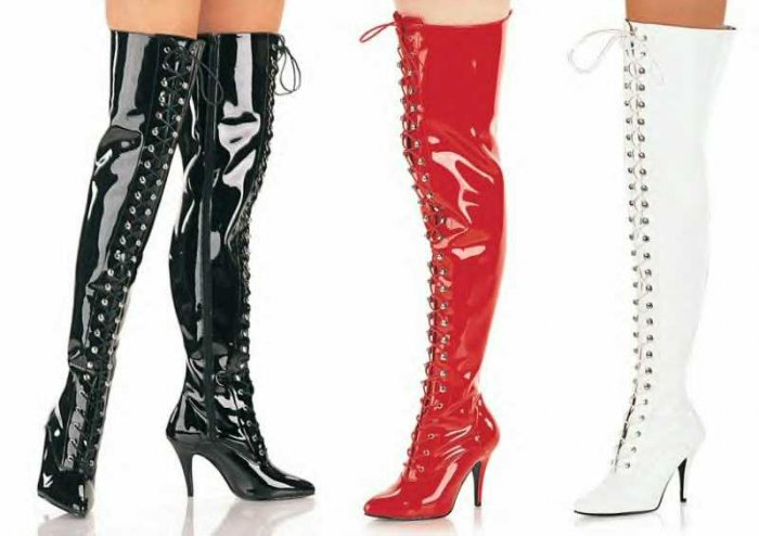 Vanity Women's Lace Up Thigh High Boots