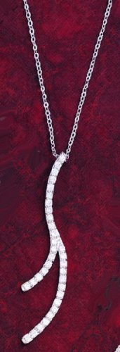 CZ Drop Design Gold Plated Necklace