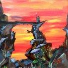The Watcher an acrylic by Robert W. Vincent