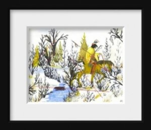 Winter Warrior an Original Water Color by RWV