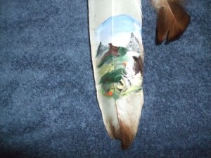 Painted Feather Item 444 by RWV
