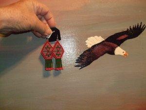 Native American Earrings                         ItemE650