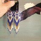Native American Seed Beaded Regalia Earring 2011K