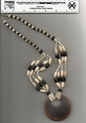 All Bone Necklace and Medallion Item 630