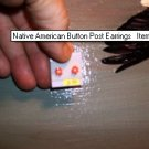 Native American Button Post Earrings Item TW25