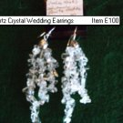 Quartz Crystal Wedding Earrings Item E100