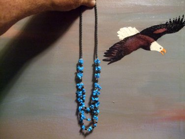 Hematite and Stabilized Turquoise Necklace Item 1234