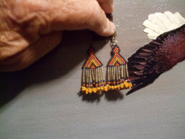 Hand Crafted Seed Bead Earrings Item E2006